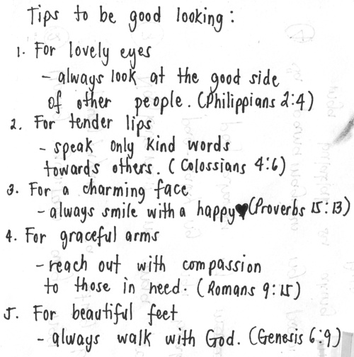 A Thought to Start Your Week // Tips to Be Good Looking
