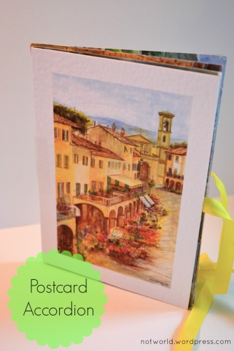 postcard accordian