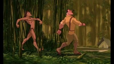 Tarzan_mimics_Clayton_walk
