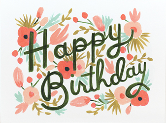 Rifle Paper Co. - Floral Burst Birthday Card